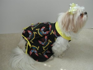 Support our troops stylish dog dress
