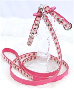pink flower harness