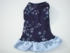 Blue bling stylish dog dress