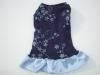 Blue bling stylish dog dress