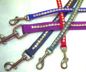Jeweled colored leashes